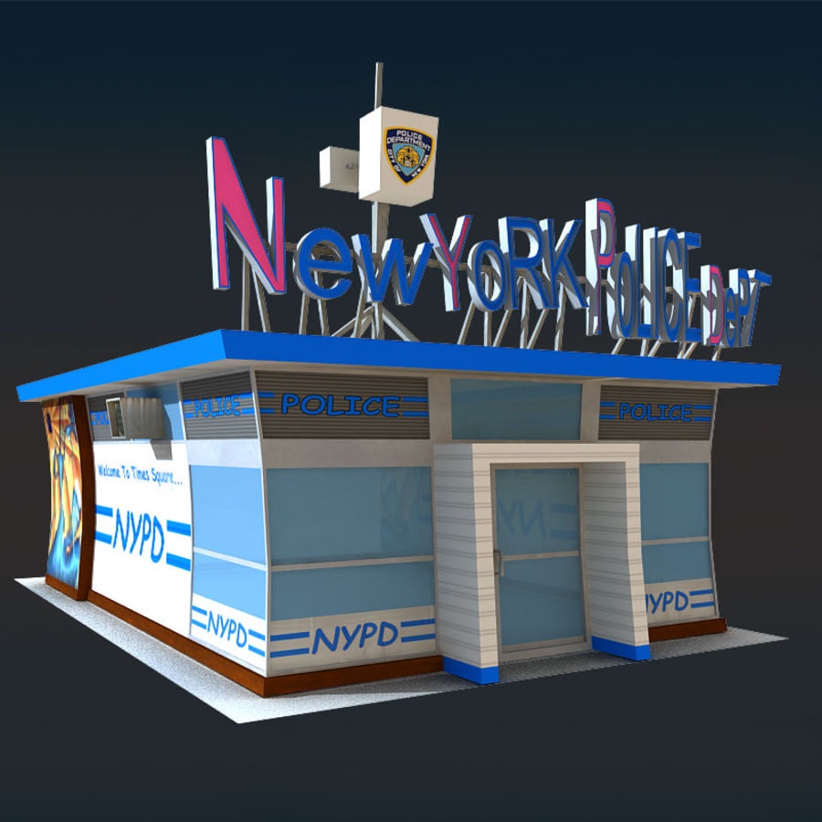 Cartoon Nypd royalty-free 3d model - Preview no. 2
