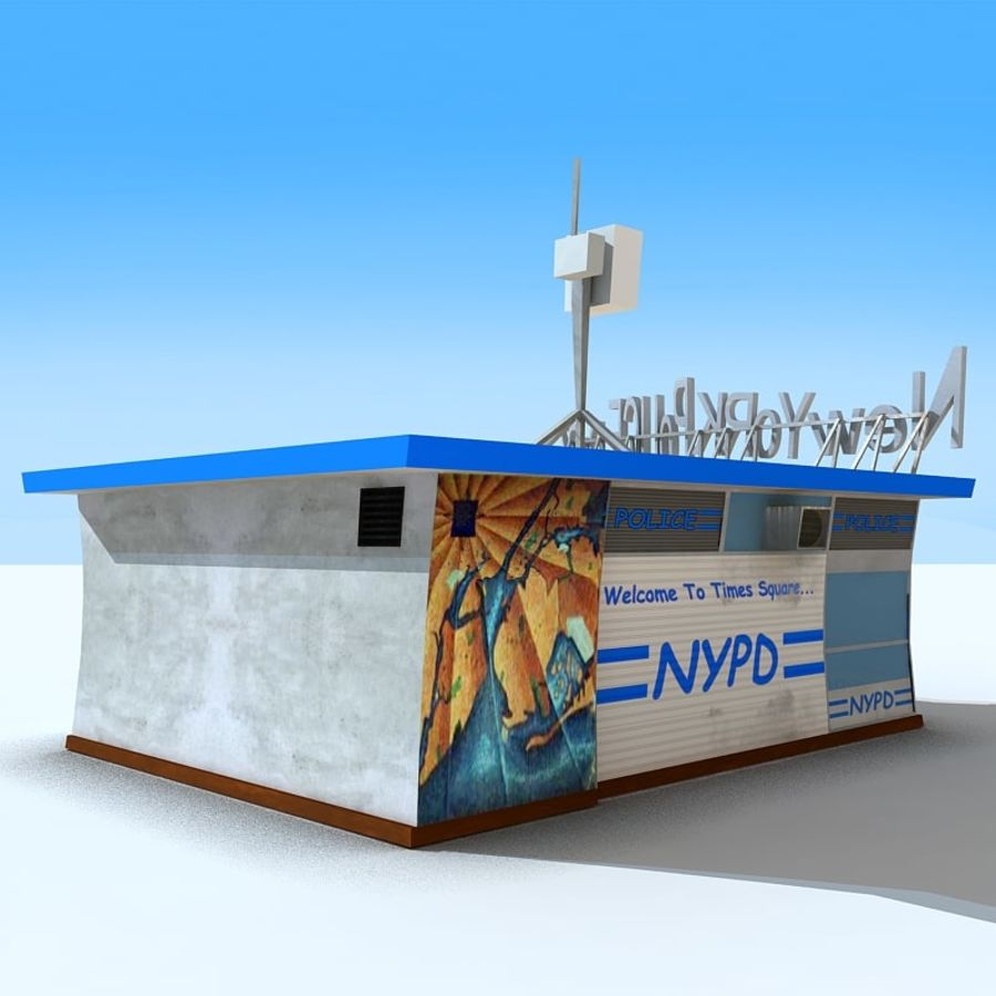 Cartoon Nypd royalty-free 3d model - Preview no. 5