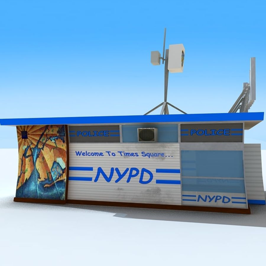 Cartoon Nypd royalty-free 3d model - Preview no. 4