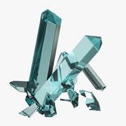 Klejnoty kryształów 3d model