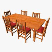 Grundläggande trä matsats 3d model