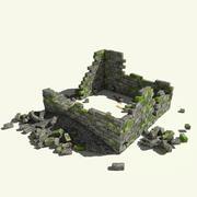 损毁的建筑3D模型 3d model