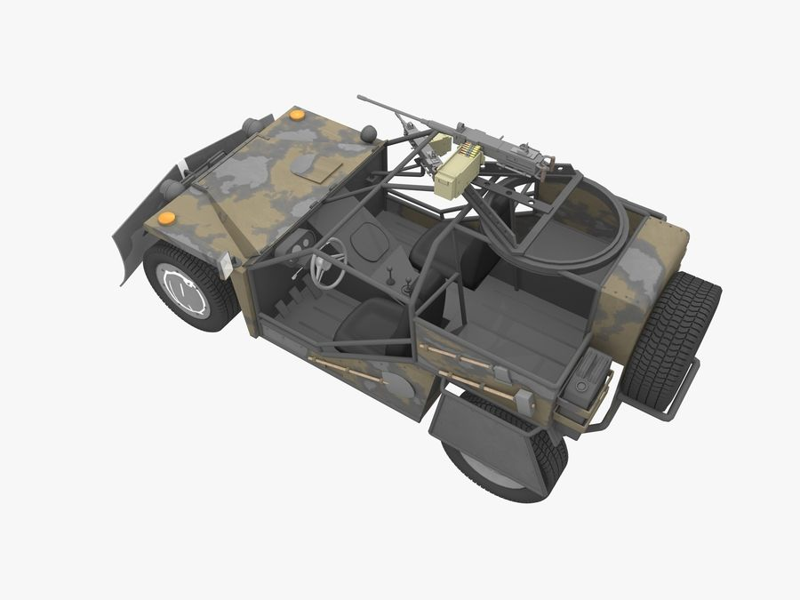Armored Post-apocalyptic Buggy royalty-free 3d model - Preview no. 7