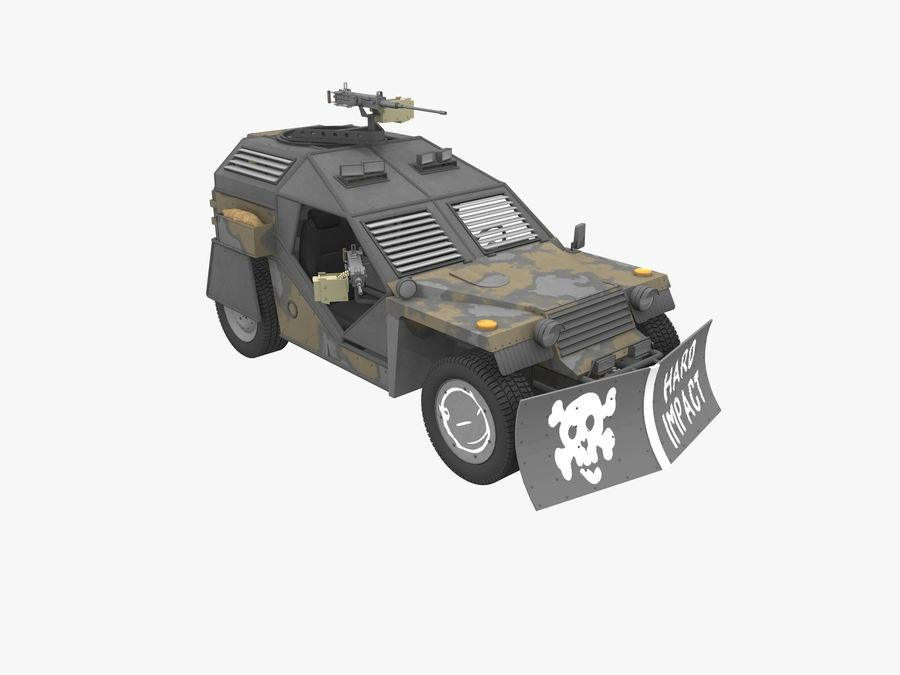 Armored Post-apocalyptic Buggy royalty-free 3d model - Preview no. 1