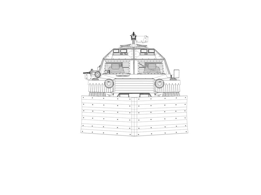 Armored Post-apocalyptic Buggy royalty-free 3d model - Preview no. 12