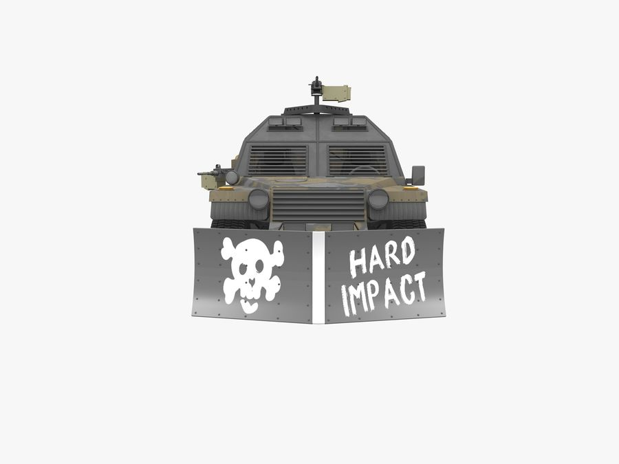 Armored Post-apocalyptic Buggy royalty-free 3d model - Preview no. 6