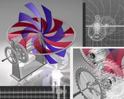 Double hélice animée 3d model