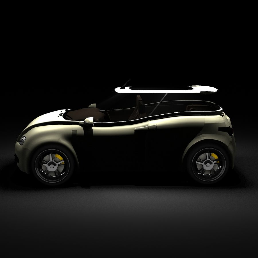 Infatuation IIコンセプトカー royalty-free 3d model - Preview no. 5