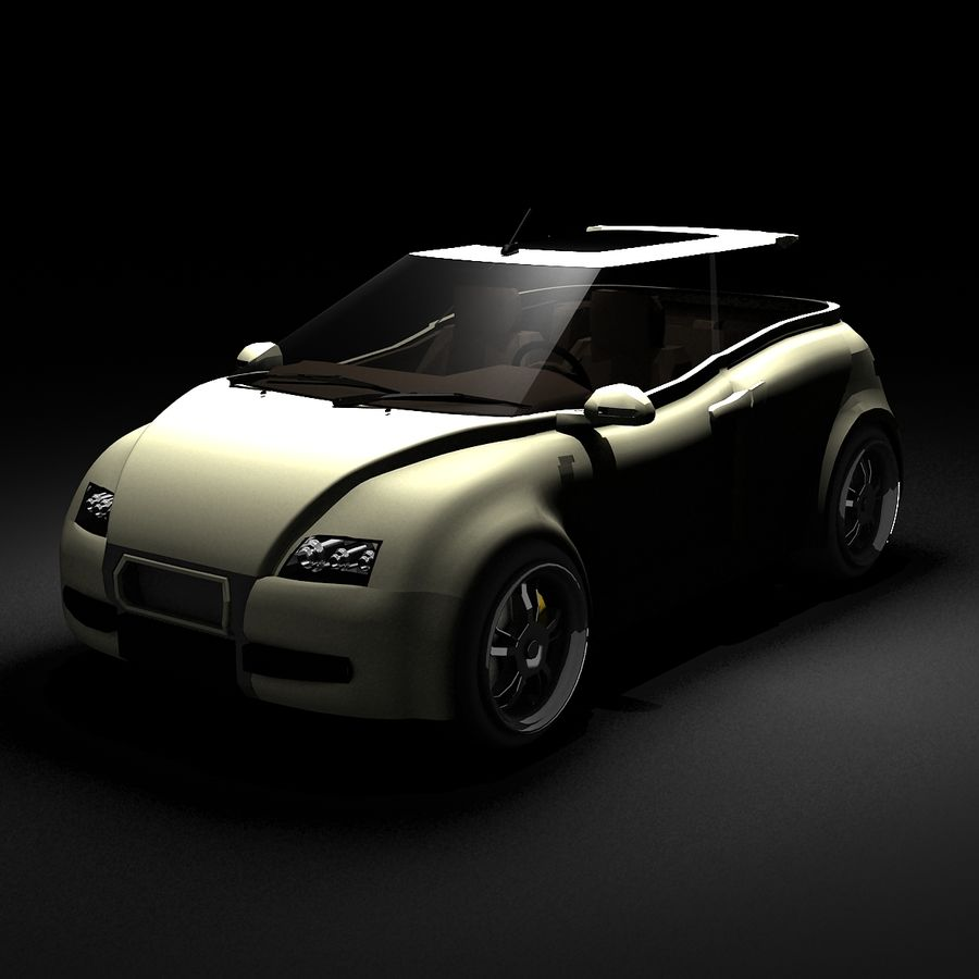 Infatuation IIコンセプトカー royalty-free 3d model - Preview no. 3