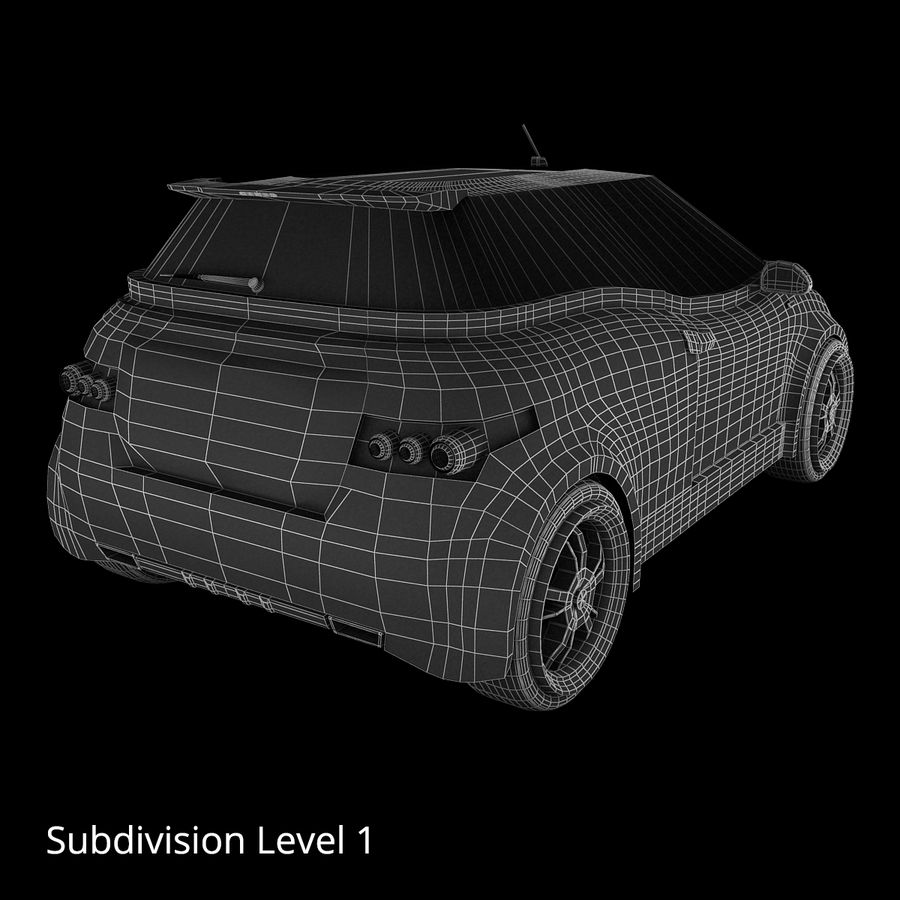 Infatuation IIコンセプトカー royalty-free 3d model - Preview no. 18