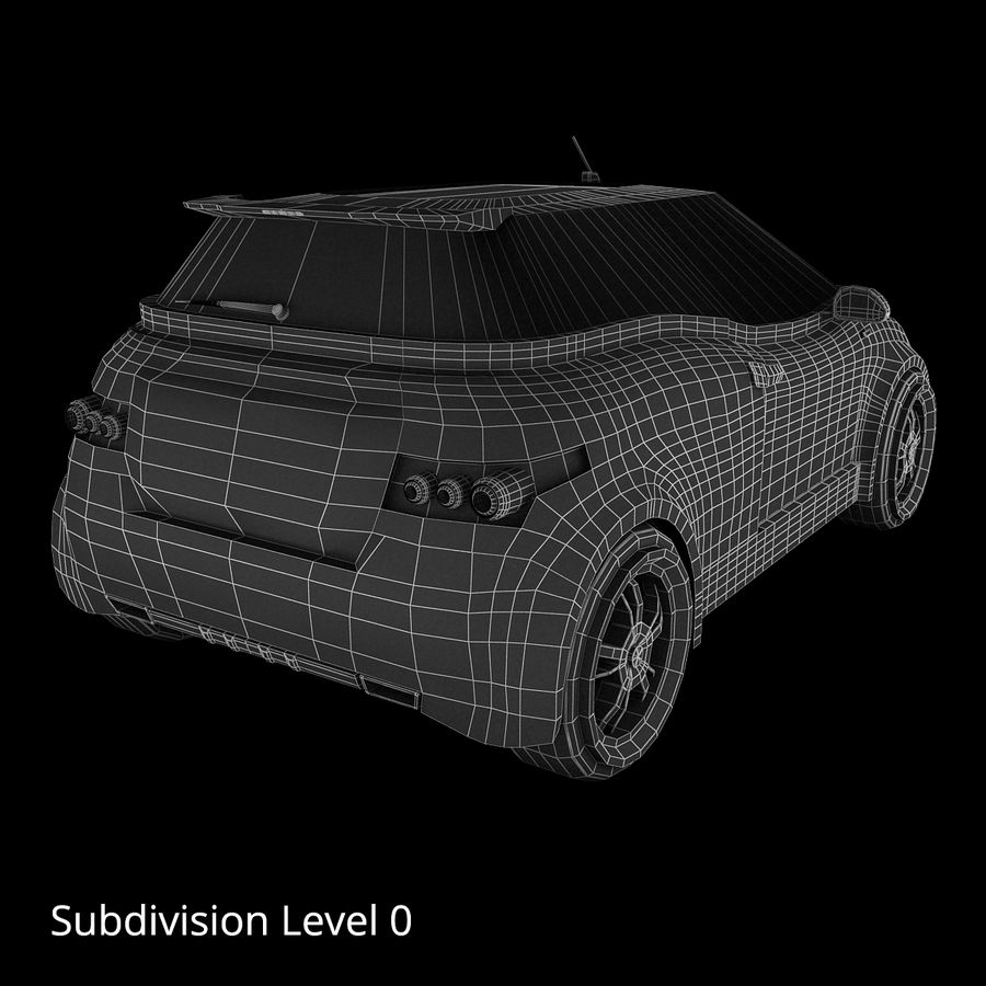 Infatuation IIコンセプトカー royalty-free 3d model - Preview no. 17