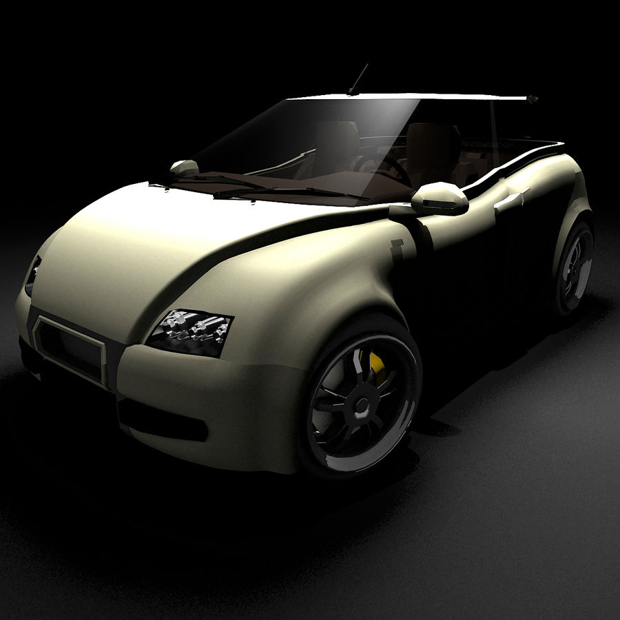 Infatuation IIコンセプトカー royalty-free 3d model - Preview no. 6