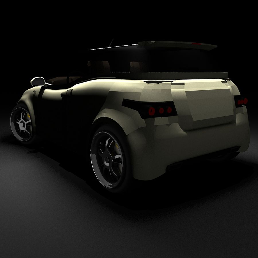 Infatuation IIコンセプトカー royalty-free 3d model - Preview no. 7