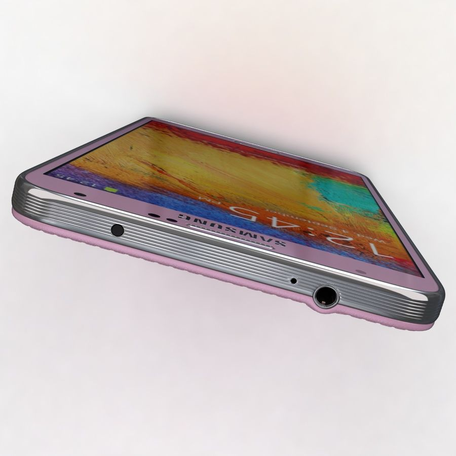 Samsung Galaxy Note 3 Pink royalty-free 3d model - Preview no. 24