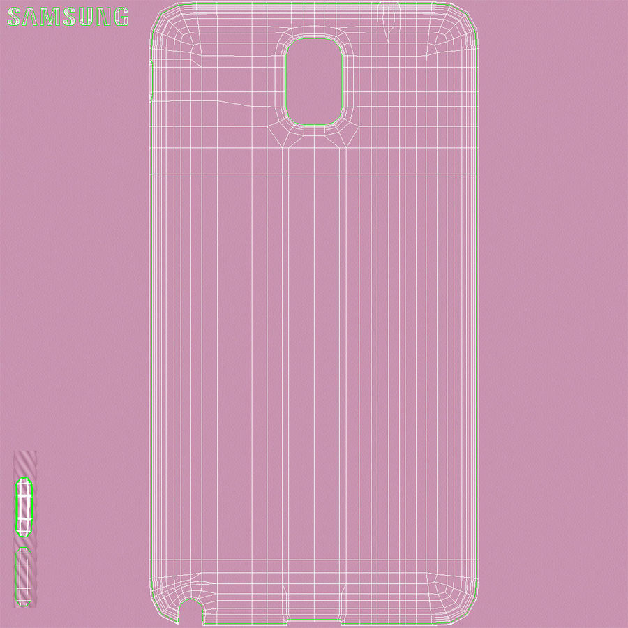 Samsung Galaxy Note 3 Pink royalty-free 3d model - Preview no. 43