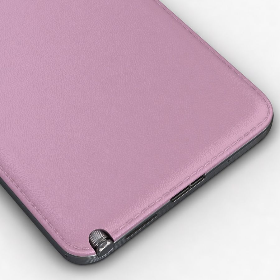 Samsung Galaxy Note 3 Pink royalty-free 3d model - Preview no. 13