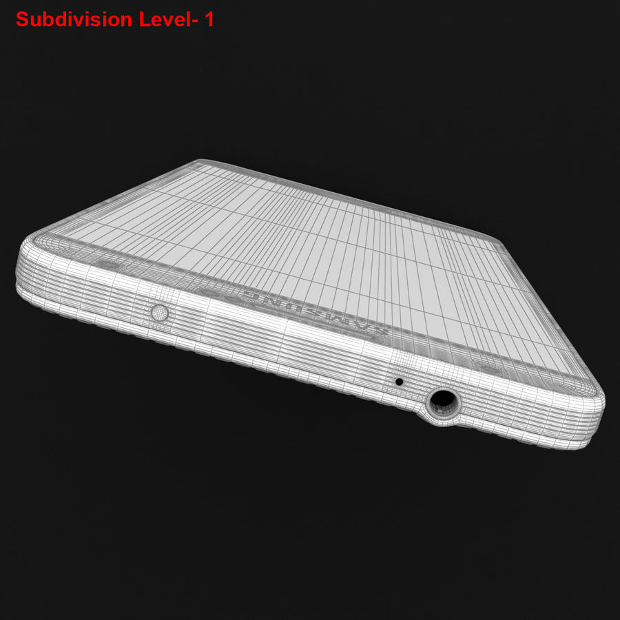 Samsung Galaxy Note 3 Pink royalty-free 3d model - Preview no. 39