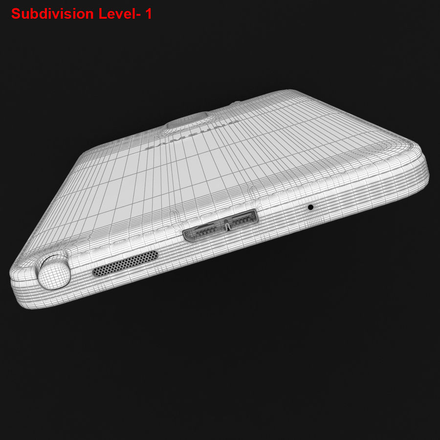Samsung Galaxy Note 3 Pink royalty-free 3d model - Preview no. 41
