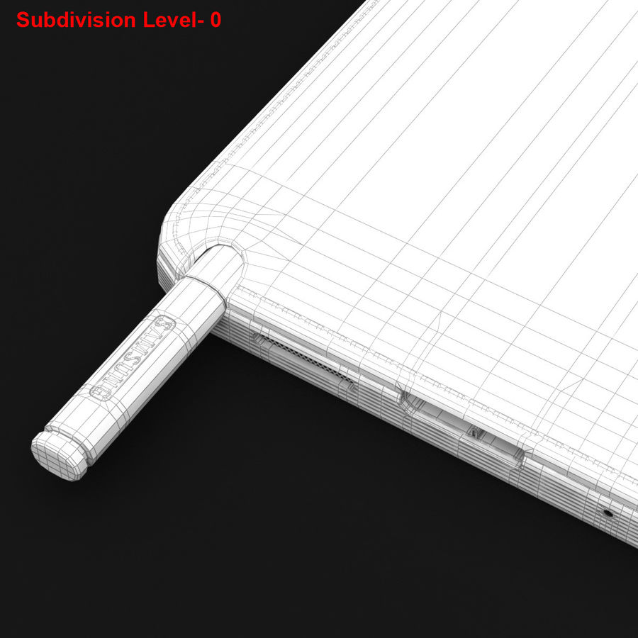 Samsung Galaxy Note 3 Pink royalty-free 3d model - Preview no. 32