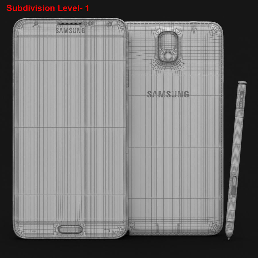 Samsung Galaxy Note 3 Pink royalty-free 3d model - Preview no. 29