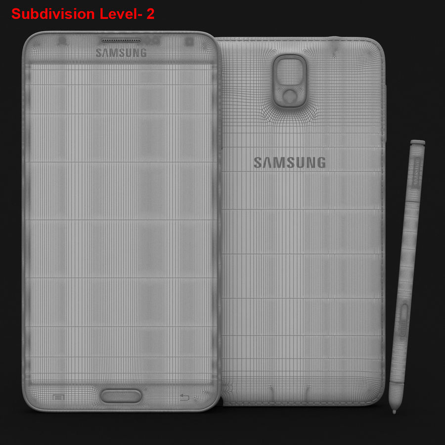 Samsung Galaxy Note 3 Pink royalty-free 3d model - Preview no. 28