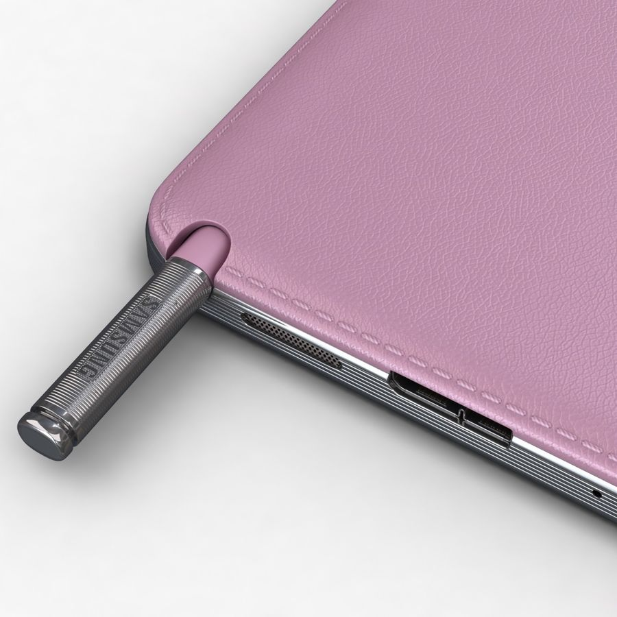 Samsung Galaxy Note 3 Pink royalty-free 3d model - Preview no. 14
