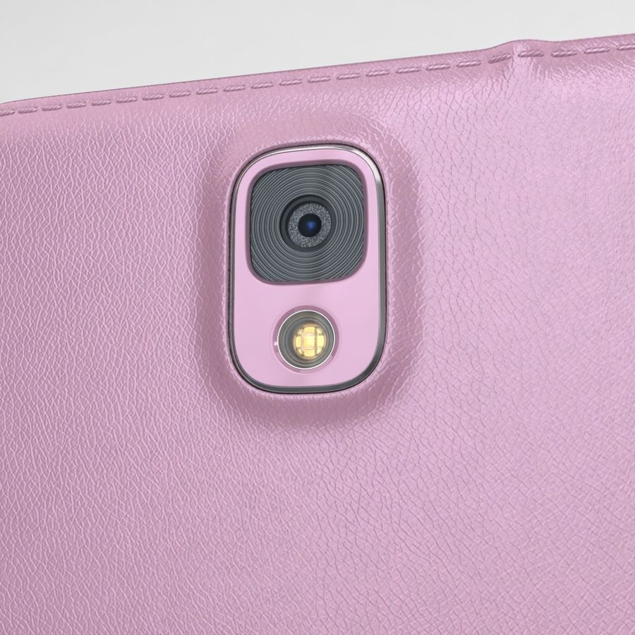 Samsung Galaxy Note 3 Pink royalty-free 3d model - Preview no. 19