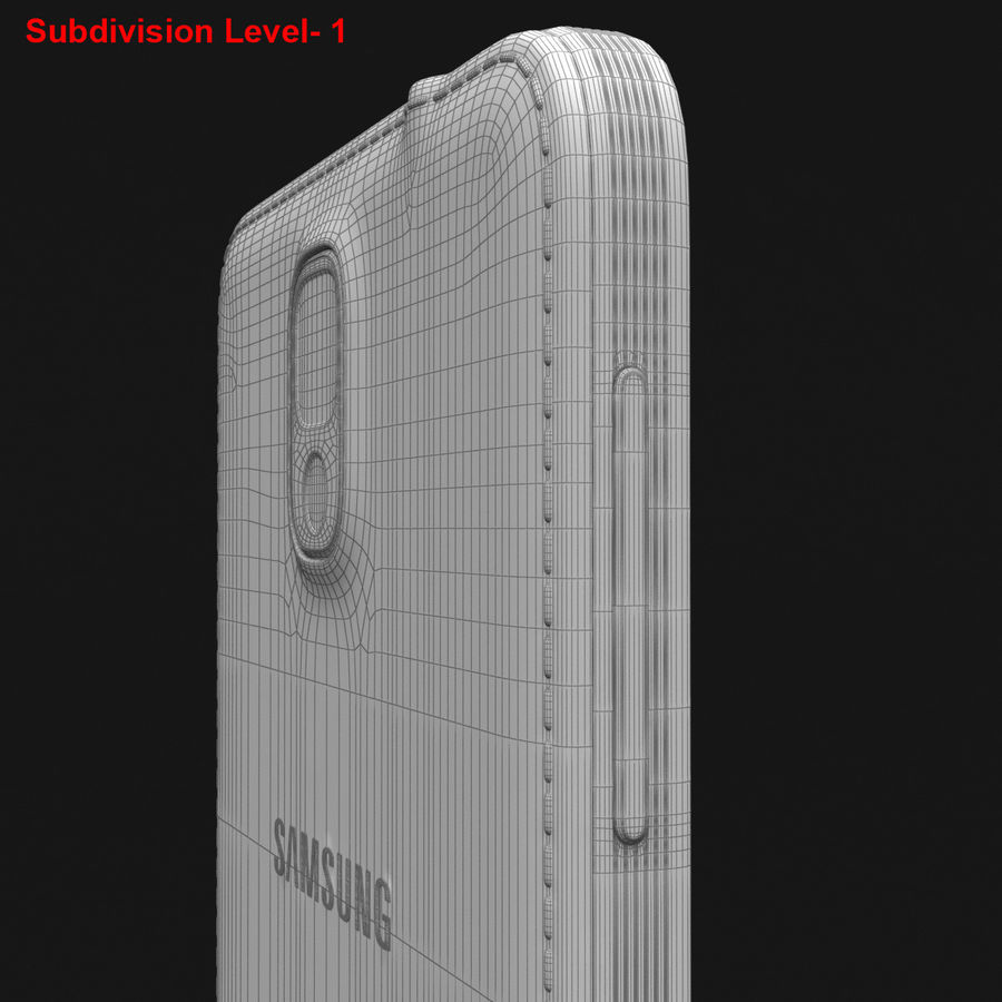 Samsung Galaxy Note 3 Pink royalty-free 3d model - Preview no. 37