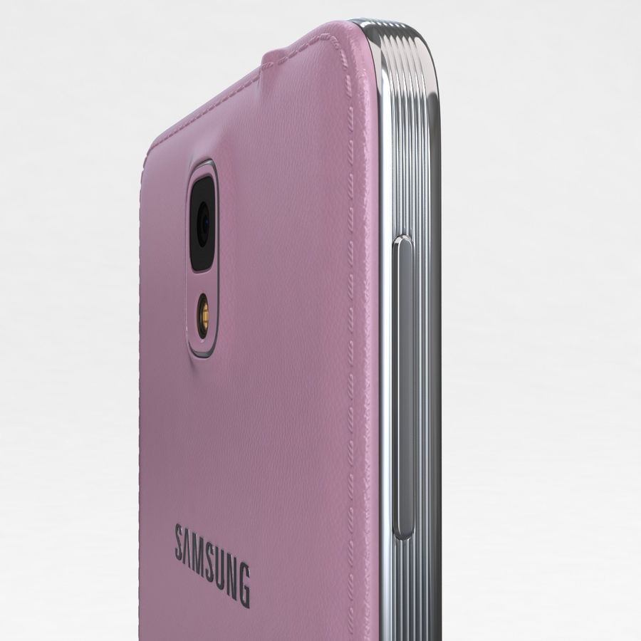 Samsung Galaxy Note 3 Pink royalty-free 3d model - Preview no. 18
