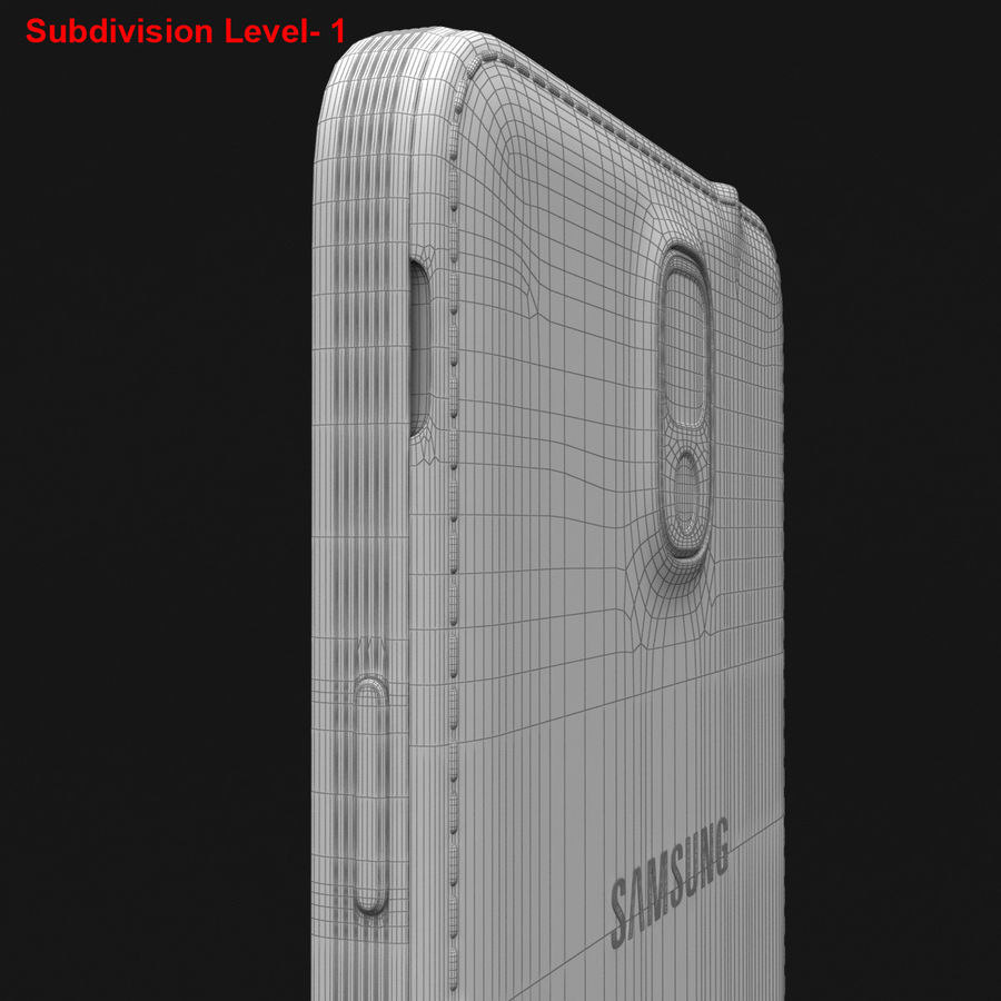 Samsung Galaxy Note 3 Pink royalty-free 3d model - Preview no. 35