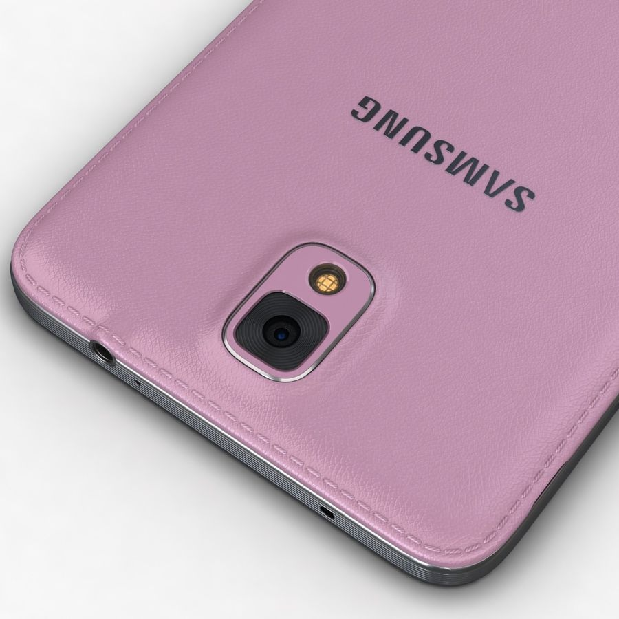 Samsung Galaxy Note 3 Pink royalty-free 3d model - Preview no. 15