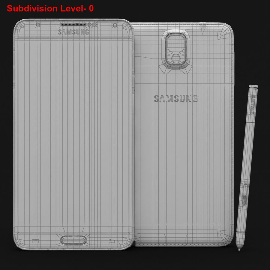 Samsung Galaxy Note 3 Pink royalty-free 3d model - Preview no. 30