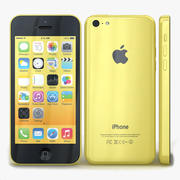 Apple iPhone 5c Amarelo 3d model