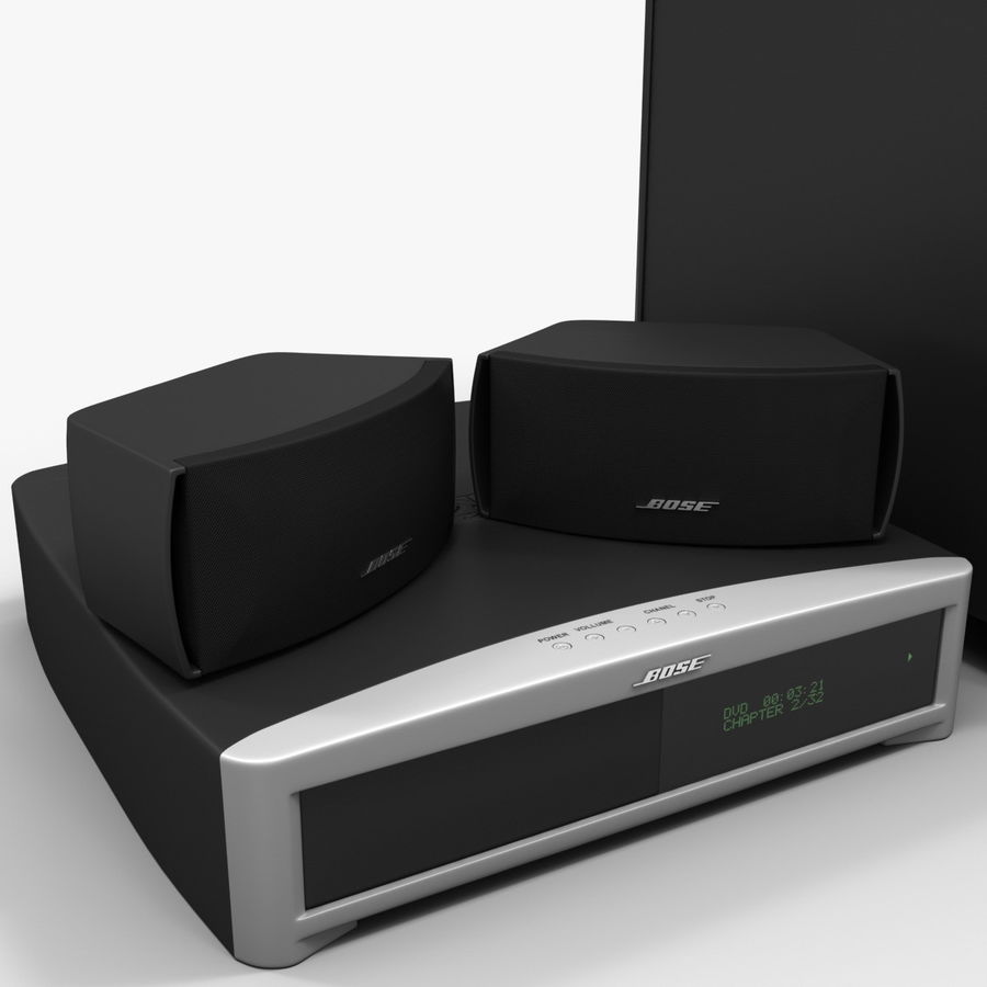 DVD Home Entertainment System Bose Graphite royalty-free 3d model - Preview no. 11