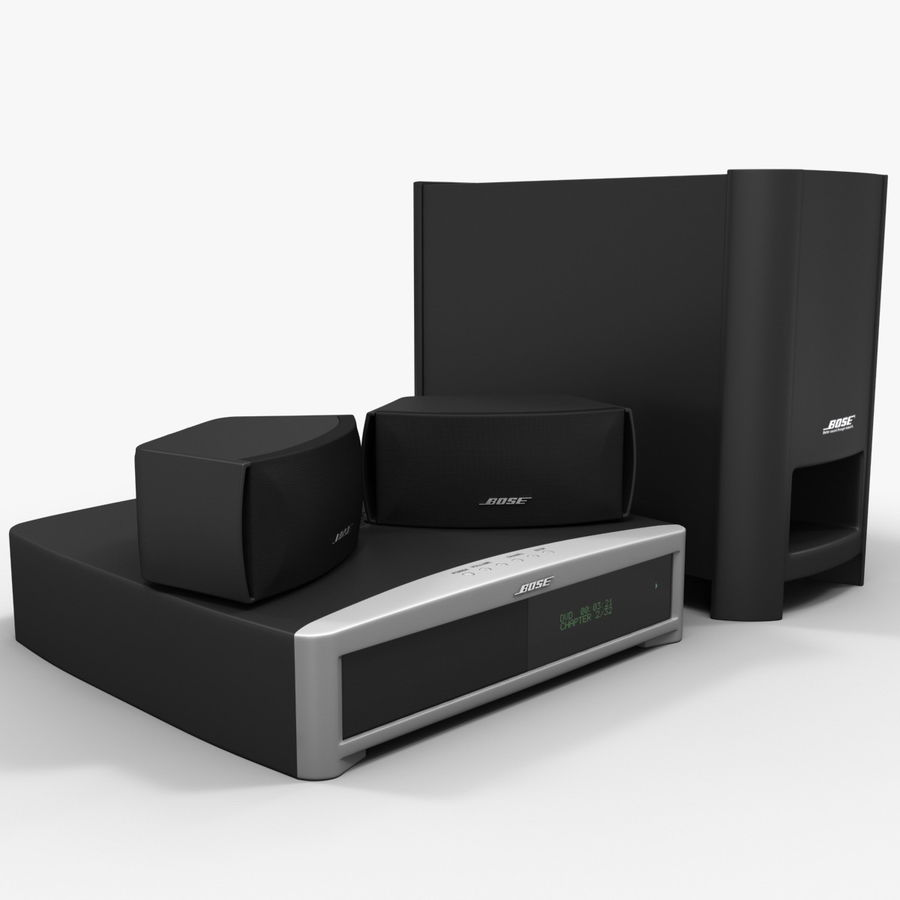DVD Home Entertainment System Bose Graphite royalty-free 3d model - Preview no. 4