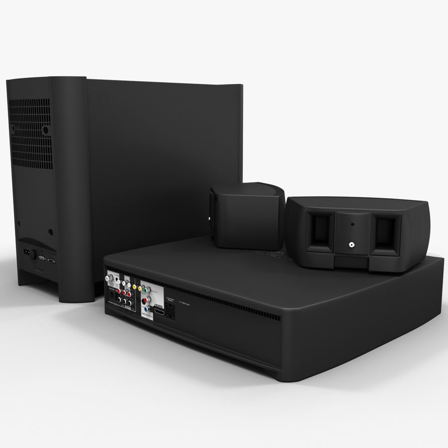 DVD Home Entertainment System Bose Graphite royalty-free 3d model - Preview no. 6