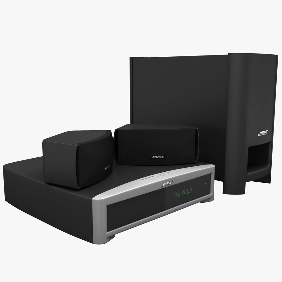 DVD Home Entertainment System Bose Graphite royalty-free 3d model - Preview no. 1