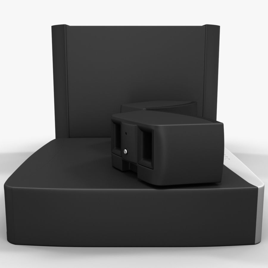 DVD Home Entertainment System Bose Graphite royalty-free 3d model - Preview no. 5