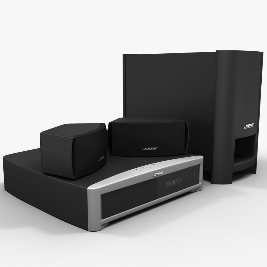 DVD Home Entertainment System Bose Graphite royalty-free 3d model - Preview no. 2