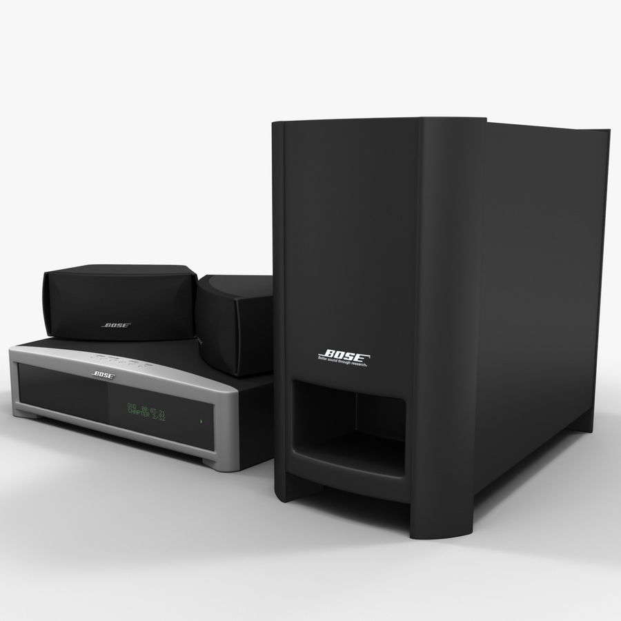 DVD Home Entertainment System Bose Graphite royalty-free 3d model - Preview no. 9