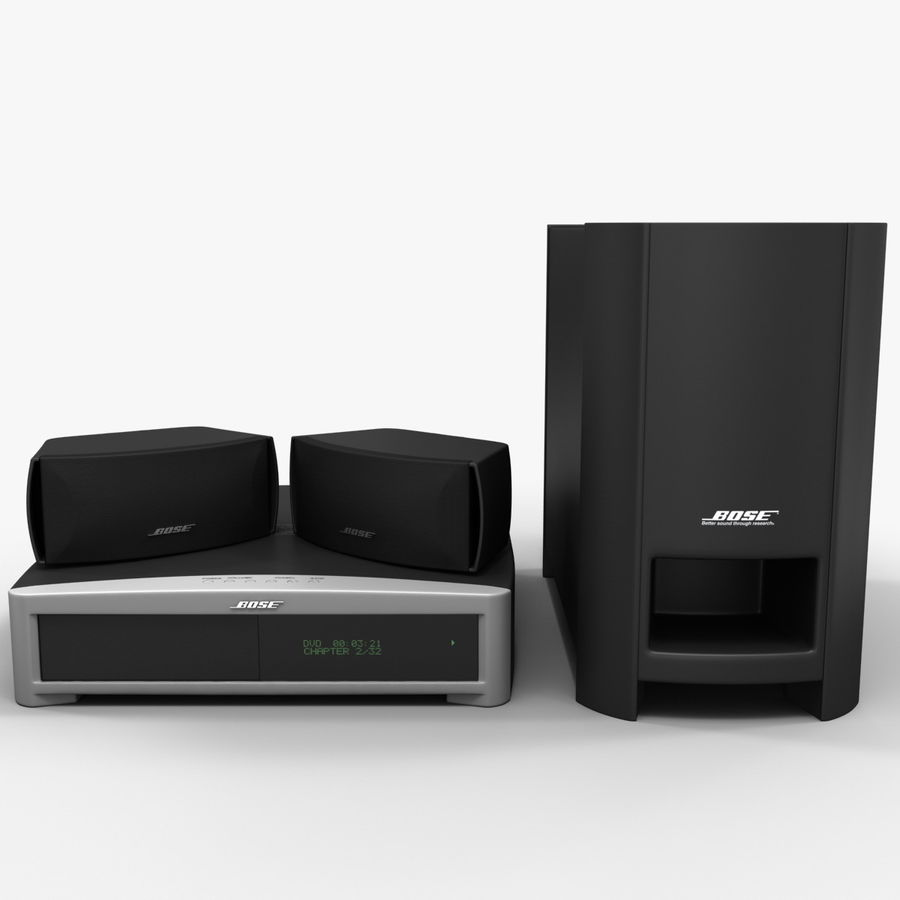 DVD Home Entertainment System Bose Graphite royalty-free 3d model - Preview no. 3