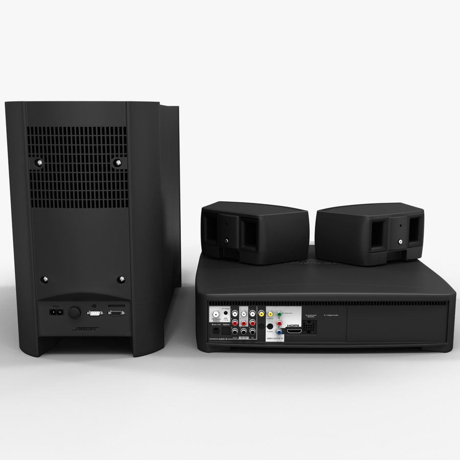 DVD Home Entertainment System Bose Graphite royalty-free 3d model - Preview no. 7