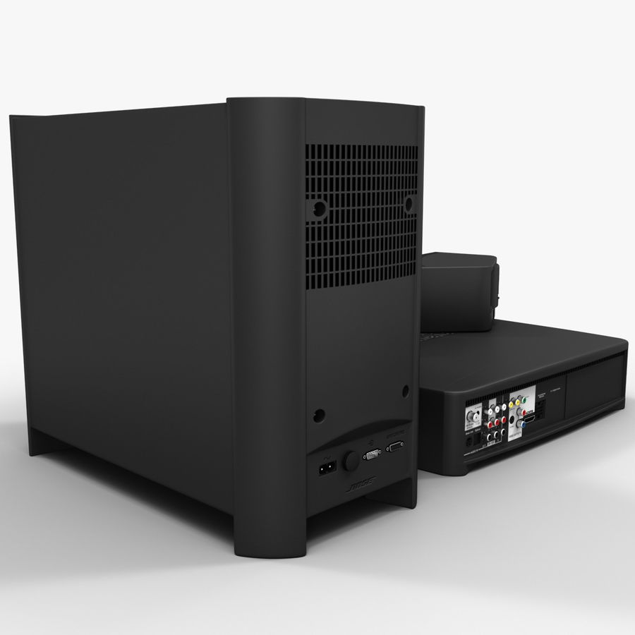 DVD Home Entertainment System Bose Graphite royalty-free 3d model - Preview no. 8