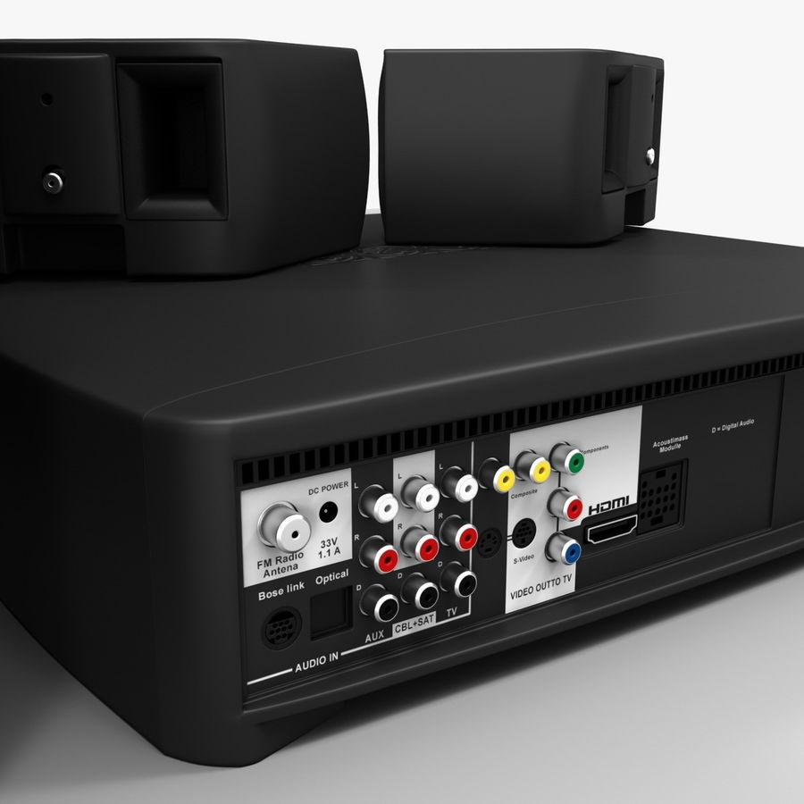 DVD Home Entertainment System Bose Graphite royalty-free 3d model - Preview no. 14