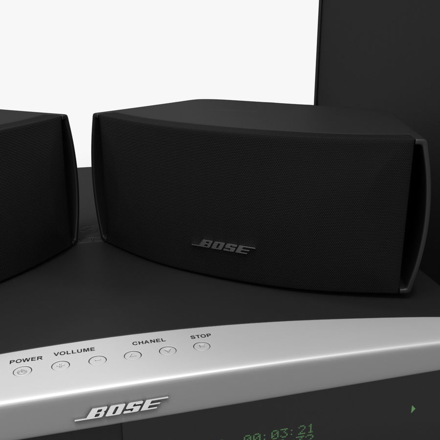 DVD Home Entertainment System Bose Graphite royalty-free 3d model - Preview no. 12