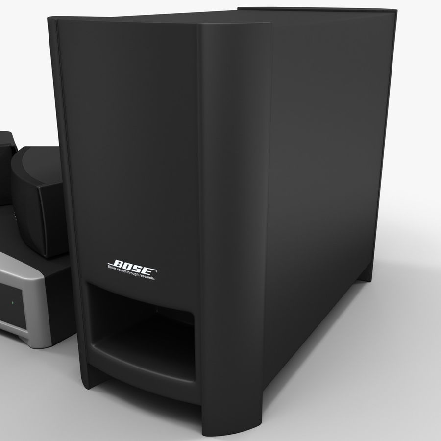 DVD Home Entertainment System Bose Graphite royalty-free 3d model - Preview no. 15
