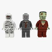 Monstruos de lego modelo 3d