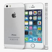 Apple iPhone 5s blanc ou argent 3d model