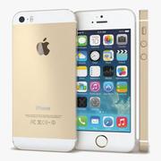 Apple iPhone 5s Dourado 3d model