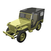 Jeep Willys1946 3d model